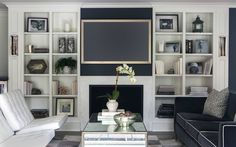 White Barcelona + contrasting dark gray sofa with white piping
