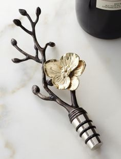 beautiful orchid wine stopper  http://rstyle.me/~32Hqc