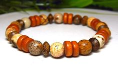 Mens Orange Bracelet – BlueStoneRiver