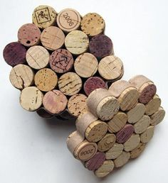 Easy DIY Cork Coasters - Great for winos looking for a last minute gift!  All you need are corks, a hot glue gun, and some ribbon!