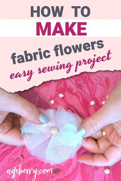 Fabric flowers are a great way to add some color and life to your clothing, accessories, or even home decor. They're quick and easy to make with just a few simple materials! This fabric flower tutorial will show you how to create fabric flowers that can be used in any project you might have in mind. The best part is that it's super easy - the whole process takes only about 15 minutes! So grab your needle and thread today, because this craft is perfect for beginners of all ages.