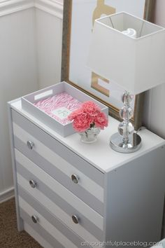 """""""MyColor™ inspired by Pantone® Painting Party"""" {Striped Dresser}"""