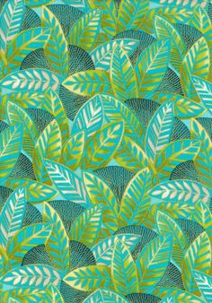 Green and Teal Leaves Happy Harlequin Fabric 1 yard. Fabric for pillows on porch...?