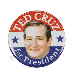 """2016 TED CRUZ for PRESIDENT Campaign Button, 2.25"""" Diameter tcs All Presidents, Presidential History, I Voted, Chicago Cubs Logo, Historical Photos, Graphic Prints, Campaign, Buttons, Sports"""