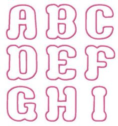 Bubble Love Applique Font