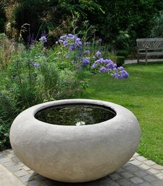 The Poppy planter as a water bowl. Repined by www.thegardenspot.co.uk