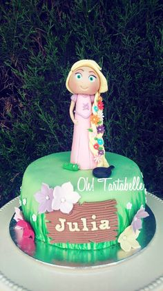 tarta rapunzel, cake tangled