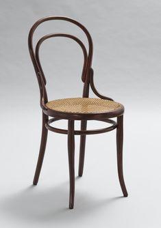 """Michael Thonet (Austrian, 1796–1871) Chair No. 14, 1881. Beechwood and cane, 36-5/8 x 16-15/16 x 18-3/4"""" (93 x 43 x 47.6 cm). Manufactured by Gebrüder Thonet, Koritschan, Moravia (Czech Republic)."""