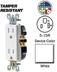 Leviton Decora Duplex Receptacle Tamper-Resistant Residential Grade - White (Pkg of Gadget World, Electrical Switches, Latest Gadgets, Outlets, Image Link, Note, Amazon, Check, Accessories