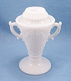 Westmoreland Glass Company | Westmoreland – Victorian Urn – Sugar & Lid – Mustard Container ...