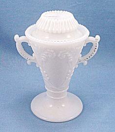 Westmoreland Glass Company | Westmoreland – Victorian Urn – Sugar & Lid – Mustard Container ...