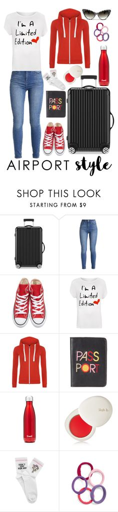 """""""Traveling in Style"""" by xxmonnyxx on Polyvore featuring Rimowa, Converse, WearAll, Lizzie Fortunato, S'well, lilah b., Yeah Bunny, L. Erickson and plus size clothing"""