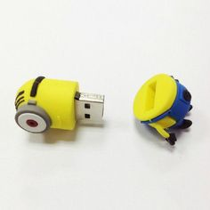 I WANT ONE!!!! I WANT ONE!!!! Free shipping Cute minion model USB 2.0 Enough by handmadelove2013, $18.99