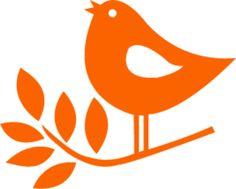 Flock applicatie vogeltje op tak · Lappeneel