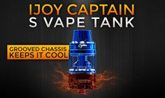 iJoy Captain S vape tank review. A sub ohm tank with threadless coils.