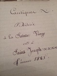 Hand written Prayer Book 1800s FleaingFrance Brocante Society
