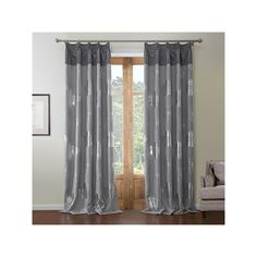 Curtains   Blackout Curtains   ( One Panel ) Neoclassical Silver Plating  Grey Floral Pattern
