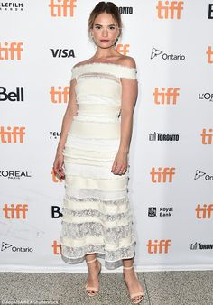 Cinderella goes to the ball:Lily James stole the show at the premiere of The Exception in Canada on Thursday