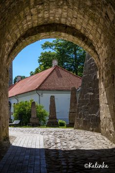 Kuressaare castle entrance, Saaremaa island, Estonia