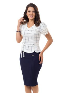 Preview image New Mode, Latest Fashion Clothes, Fashion Outfits, Fashion Fashion, Work Attire Women, Stylish Work Outfits, African Fashion Dresses, Classy Dress, Skirt Outfits