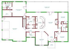 1500 sq ft ranch homes plans with side entrance garage | House Plan, Single Level Traditional Houseplan, Ranch Home Plan ...