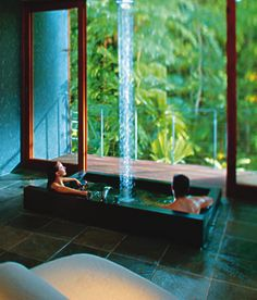 Healing Waters Spa, spa treatments in the rainforest at Silky Oaks Lodge, set amongst the spectacular backdrop of Mossman Gorge River. Queensland Australia, Australia Travel, Daintree Rainforest, Heavenly Places, Relax, Bathroom Spa, Spa Treatments, Adventure Is Out There, Spa Day
