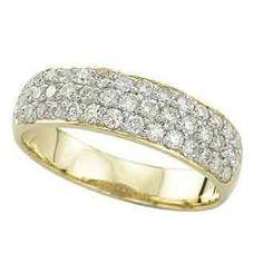 0.75 Carat Diamond 14K Yellow Gold Anniversary Wedding Band Rings 3.42g: Ring Size: Sizable
