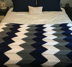 Chevron Blanket - Chevron Afghan - Crochet Blanket - Crochet Afghan - Chevron Bedding - Custom Blanket Crochet blankets are an easy way to add a splash of color to your decor. Theyre great to use as a throw in your living space or an accent to your bedding. This chevron afghan can be