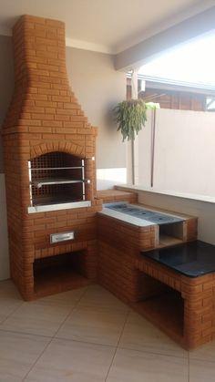 Kitchen Cabinets Decor, Home Decor Kitchen, Rustic Kitchen, Village House Design, Bungalow House Design, Outdoor Kitchen Patio, Outdoor Kitchen Design, Indian Bedroom Decor, Brick Bbq