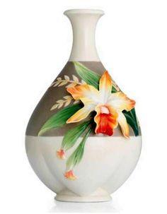 Franz Porcelain Cattleya Vase