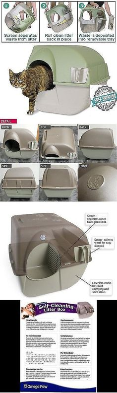 Litter Boxes 100411: Omega Paw Self Cleaning Cat Litter Box Regular Roll Kitty Pewter Scoop Automatic -> BUY IT NOW ONLY: $32.99 on eBay!
