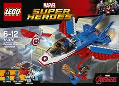 With the LEGO Marvel Super Heroes: Captain America Jet set Ms. Marvel is on a mission to help retrieve Captain America's shield from Super-Adaptoid, who is shooting back with his Power Blasts. Lego Marvel Spiderman, Lego Marvel's Avengers, Lego Marvel Super Heroes, Ms Marvel, Shop Lego, Buy Lego, Legos, Avengers Infinity War, Toy Store