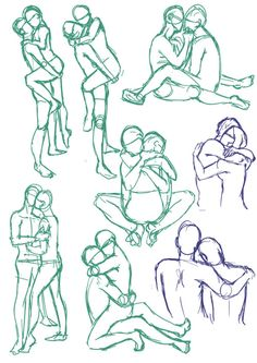 artist-refs:  Couples poses 01 by SajoPhoe
