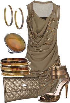 """Beaded Dress"" by glamatarian ❤ liked on Polyvore"