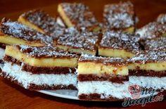 Vynikající kokosové řezy s čokoládou