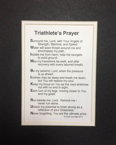 Triathlete's Prayer by AthletePrayers on Etsy Ironman Triathlon Motivation, Triathlon Training Plan, Triathlon Women, Triathlon Gear, Swimming Motivation, Fitness Motivation, Athletes Prayer, Half Ironman, Triathalon