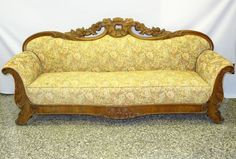 FABULOUS ANTIQUE EARLY19c AMERICAN EMPIRE PHILADELPHIA HEAVILY CRAVED WOOD SOFA #Empire