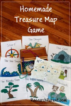 Homemade Treasure Map Game by ResearchParent.com