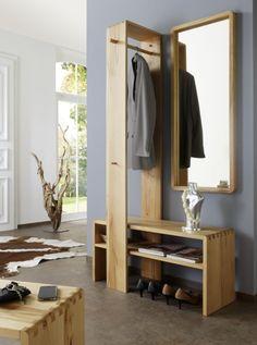 Elegante Gaderobe aus Echtholz >> CLASSICO Garderobenset Kernbuche #diele #flur