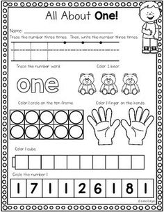 Number One Activities Number One Activities Original article and pictures take https://www.teacherspayteachers.com/Product/Number-One-Ac...