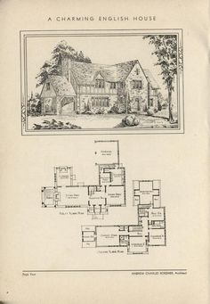 A Charming English House by Architect Andrew Charles Borzner.  The book of beautiful homes. by Andrew C. Borzner  Published 1932