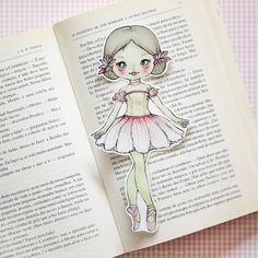 Alina the Ballerina laminated bookmark - Flower