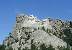 Mount Rushmore National Memoria in Black Hills of South Dakota