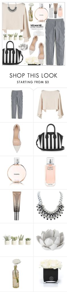 """""""office simple style"""" by nickooe-zhou ❤ liked on Polyvore featuring J.Crew, Gianvito Rossi, Givenchy, Chanel, Calvin Klein, Urban Decay, Nicki Minaj, Allstate Floral, Pavilion Broadway and Cultural Intrigue"""