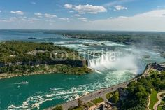 Niagara Falls view from Skylon Tower platform