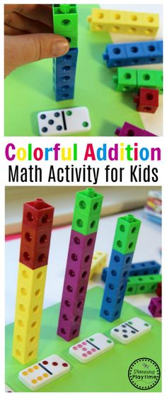 Addition Activity Hands on Kindergarten Addition - Fun math activity for kids.Hands on Kindergarten Addition - Fun math activity for kids. Math Activities For Kids, Math For Kids, Addition Activities, Kids Fun, Subtraction Activities, Preschool Math Games, Preschool Math Activities, Montessori Math, Math Concepts