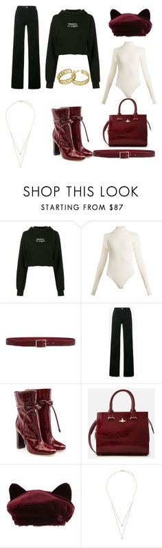 """""""Casual classy"""" by experimentalfashion ❤ liked on Polyvore featuring Ksubi, Khaite, Orciani, Calvin Klein 205W39NYC, Malone Souliers, Vivienne Westwood, Maison Michel, Messika, Vetements and Hoodies"""