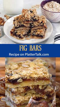 This recipe for homemade fig bars from Platter Talk is a family favorite and simple to make! This recipe for homemade fig bars from Platter Talk is a family favorite and simple to make! Pastry Recipes, Cookie Recipes, Dessert Recipes, Dried Fig Recipes, Recipe With Dried Figs, Recipes With Figs, Fig Bread, Banana Bread, Stollen Recipe