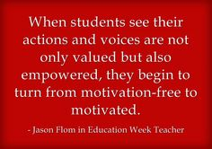 Response: 'Listen, Empathize, Connect' For Student Motivation This is my latest post at Education Week...