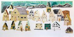Ohotaq Mikkigak Composition (Houses in Cape Dorset) 2011 Courtesy of Feheley Fine Arts